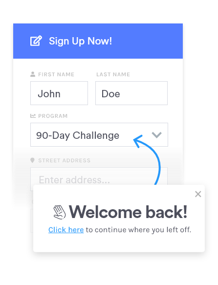 Form tracking: partial form fill capture & repopulate   Insiteful