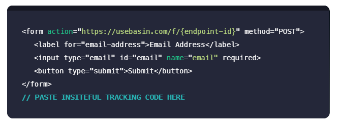 Insiteful + Basin: Partial entry & form abandonment tracking, saved progress, auto follow-up & more