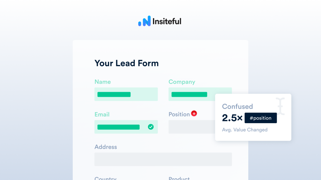 Form Field Confusion Insights - Smart Recommendations & Form Analytics via Insiteful.co
