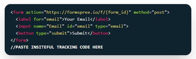 Insiteful + Formspree: Partial entry & form abandonment tracking, saved progress, auto follow-up & more