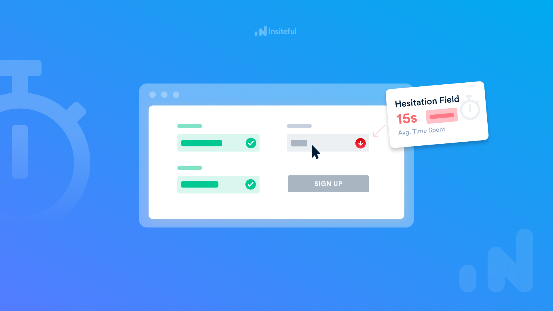 Hesitation Analytics for Forms: identify which fields make visitors hesitate