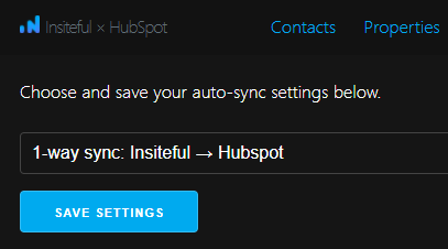 Insiteful + HubSpot: native integration - sync contacts & leads