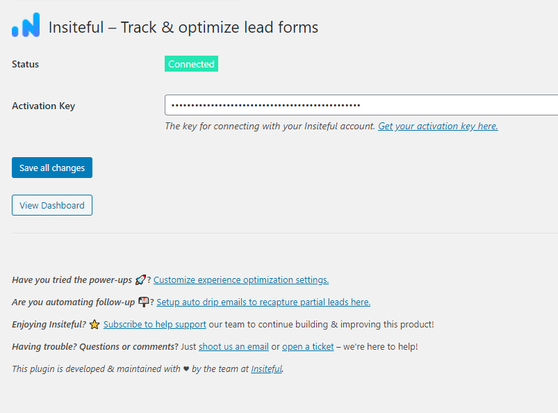 Start tracking forms with WordPress and Insiteful