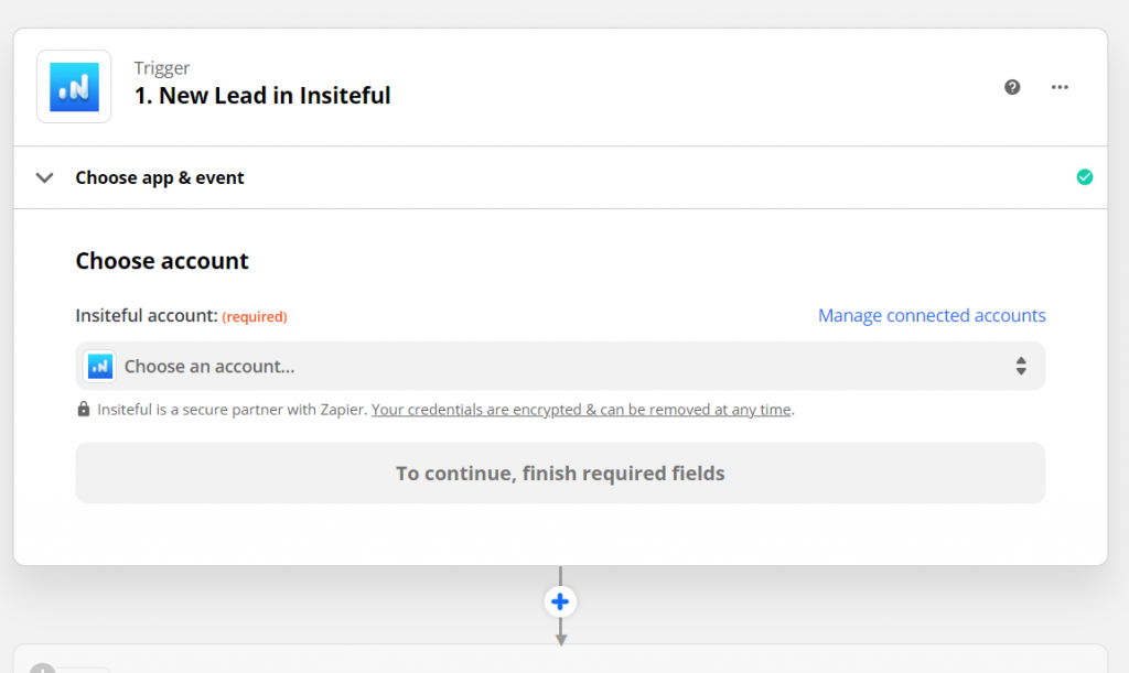 Insiteful Zapier integration: automatically sync leads recovered from abandoned forms - no-code integrations