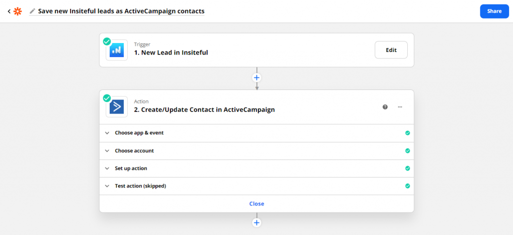 Insiteful + ActiveCampaign: auto follow-up email for leads recovered from abandoned forms