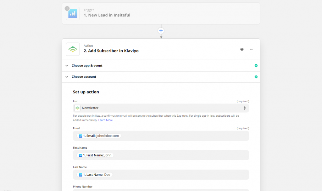 Insiteful + Klaviyo: auto follow-up email for leads recovered from abandoned forms