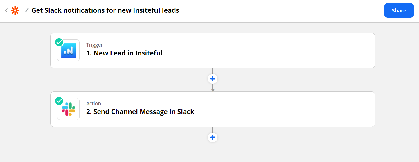 Get notifications for new leads detected by Insiteful (Zapier) - Success