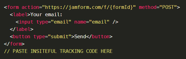Insiteful + Jamform: Partial entry & form abandonment tracking, saved progress, auto follow-up & more